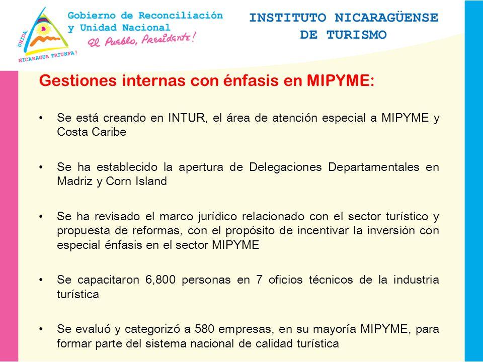 Gestiones internas con énfasis en MIPYME: