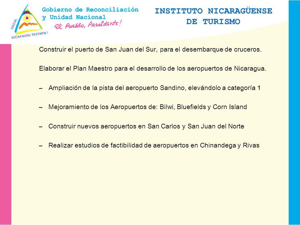 Construir el puerto de San Juan del Sur, para el desembarque de cruceros.