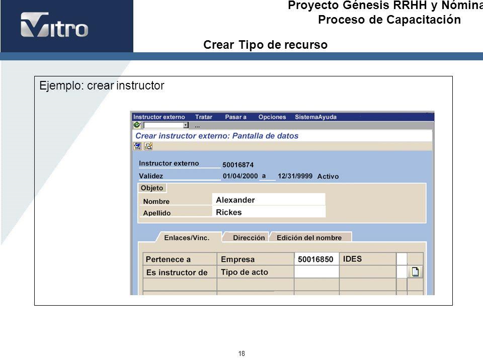 Crear Tipo de recurso Ejemplo: crear instructor