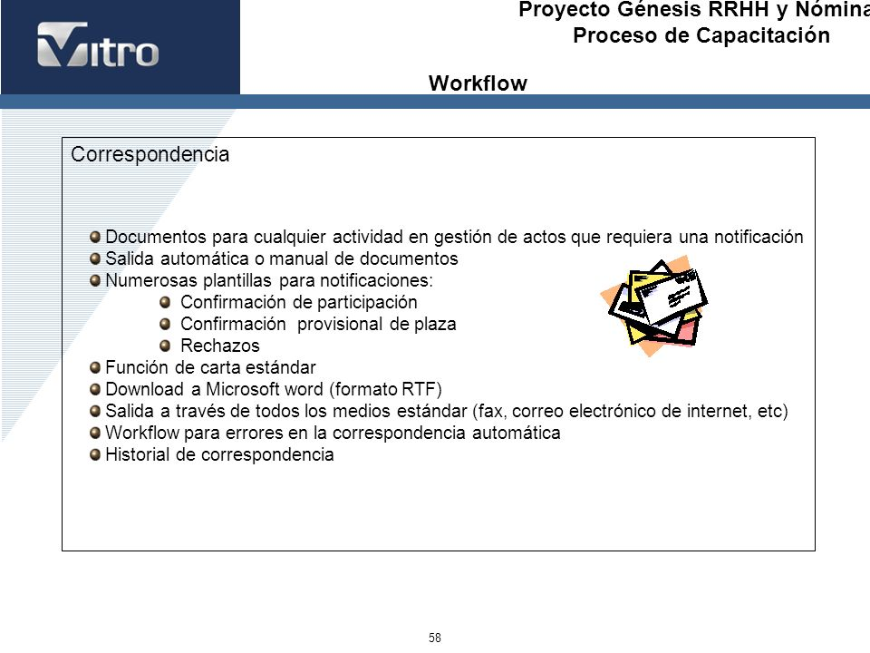 Workflow Correspondencia