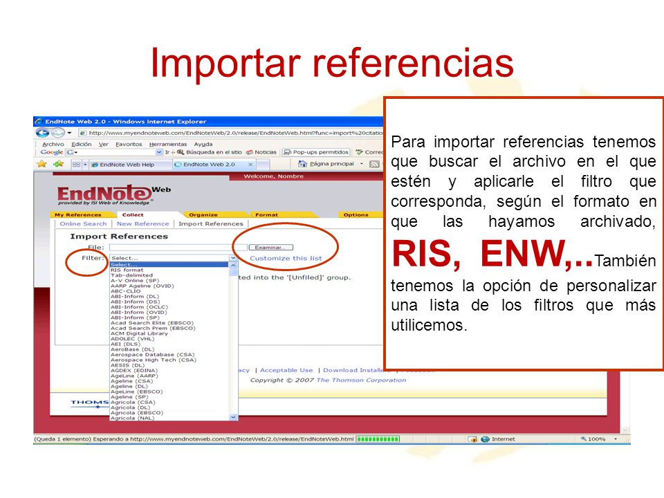 Importar referencias