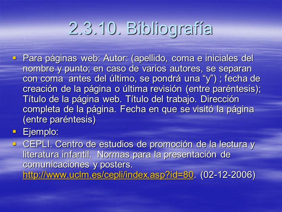 2.3.10. Bibliografía