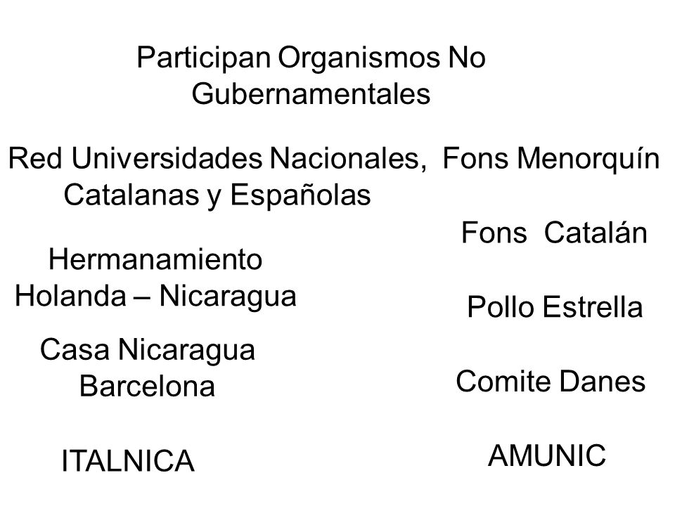 Participan Organismos No Gubernamentales