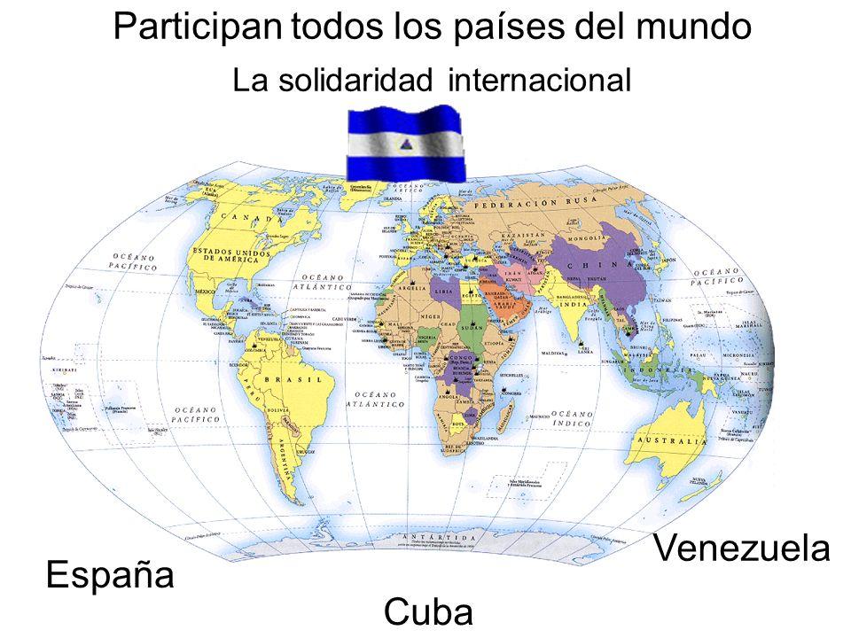 Participan todos los países del mundo