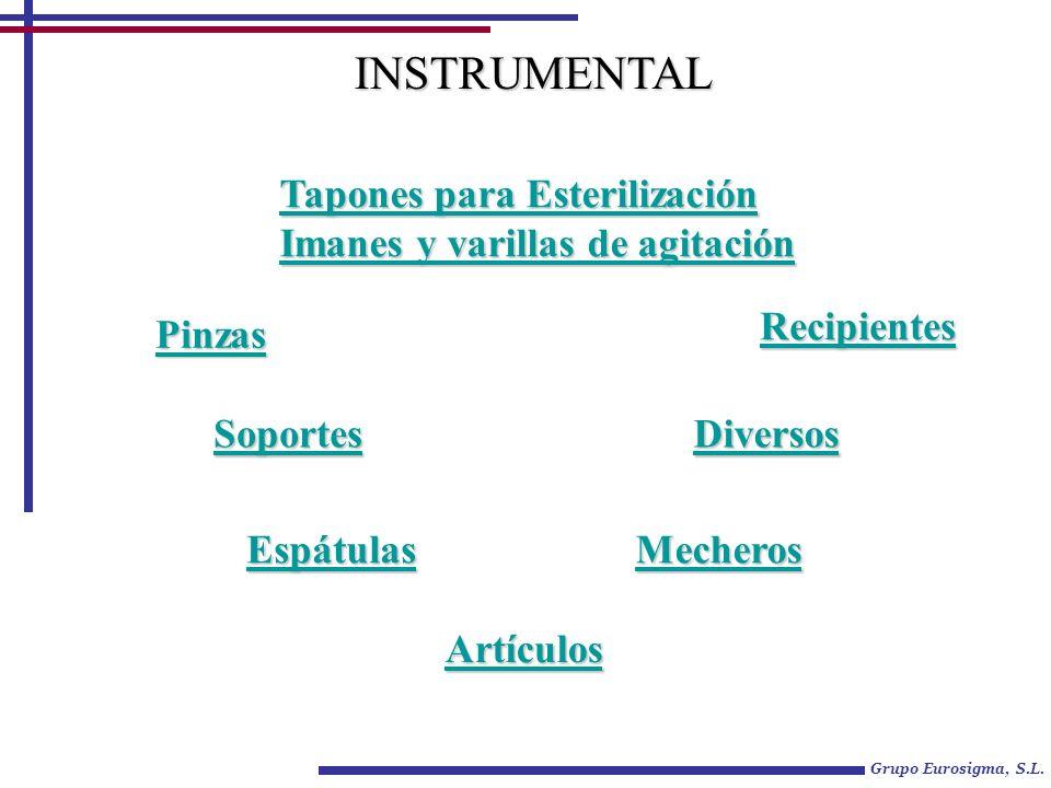 INSTRUMENTAL Tapones para Esterilización