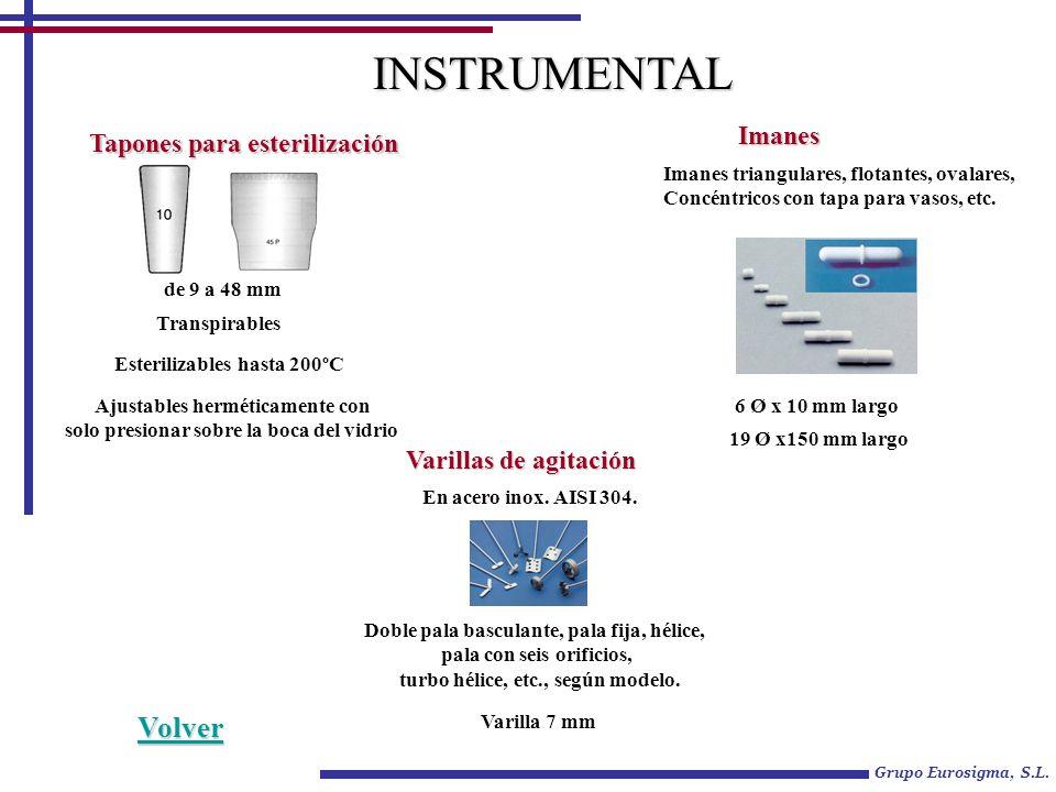 INSTRUMENTAL Volver Imanes Tapones para esterilización