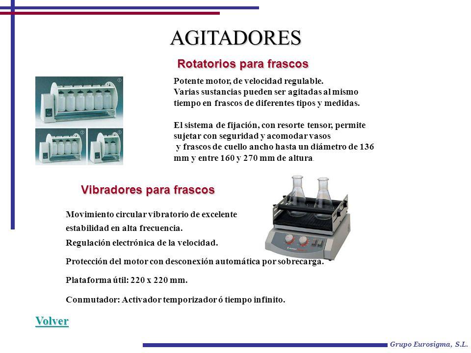 AGITADORES Rotatorios para frascos Vibradores para frascos Volver