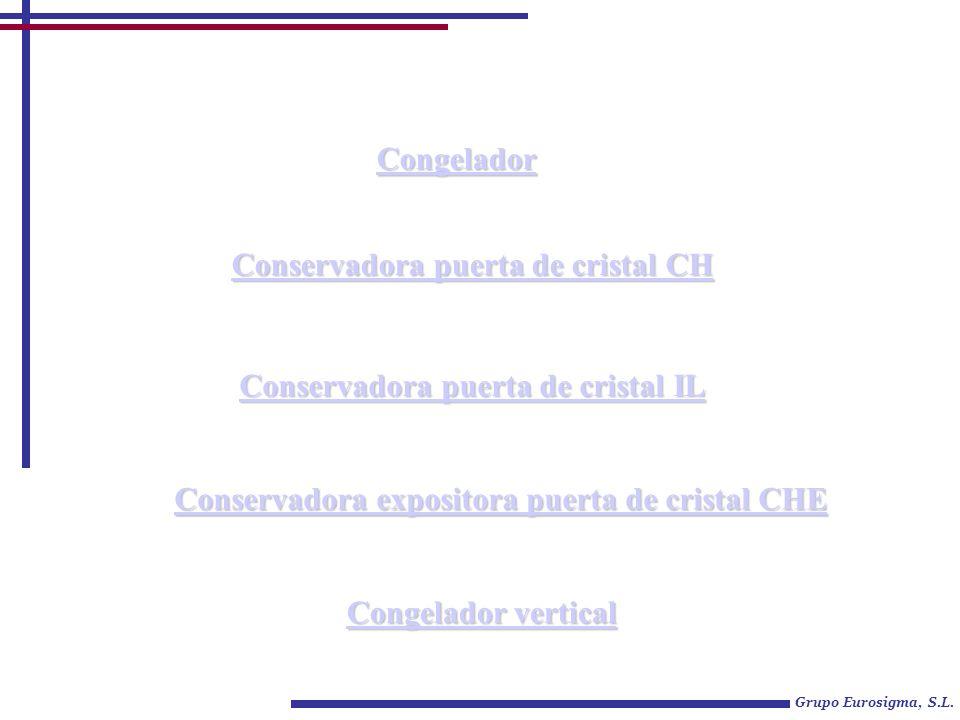 Conservadora puerta de cristal CH