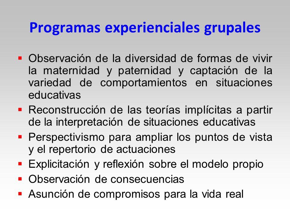 Programas experienciales grupales