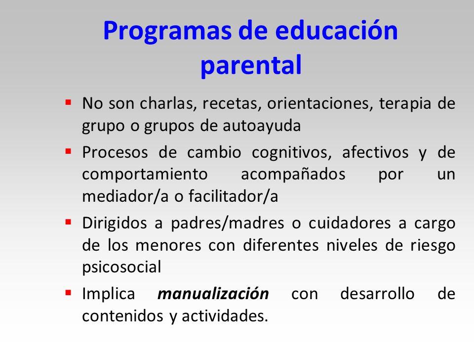 Programas de educación parental