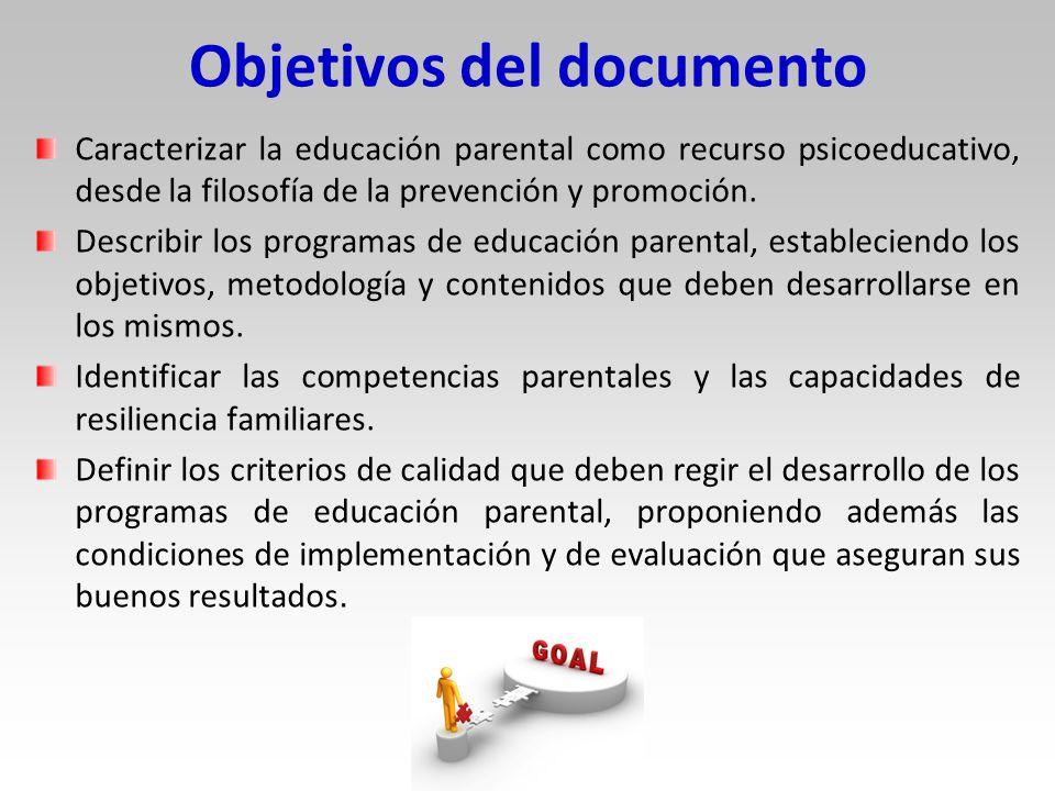 Objetivos del documento