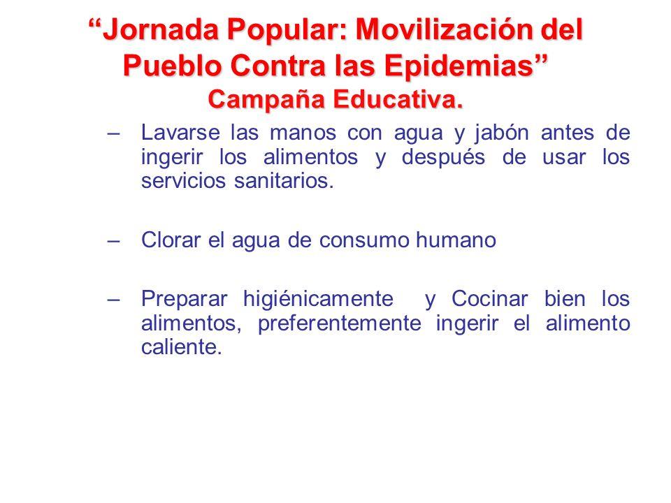 Jornada Popular: Movilización del Pueblo Contra las Epidemias Campaña Educativa.