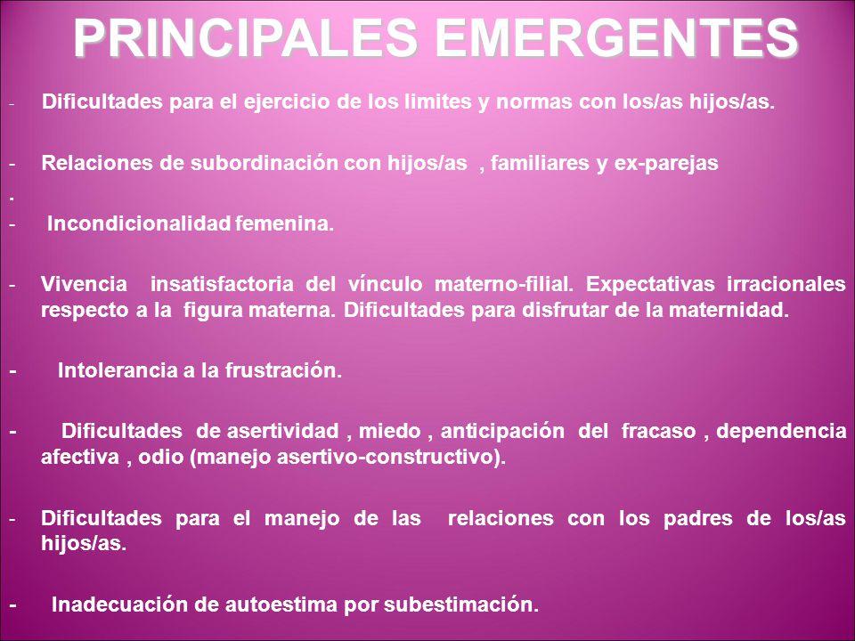 PRINCIPALES EMERGENTES