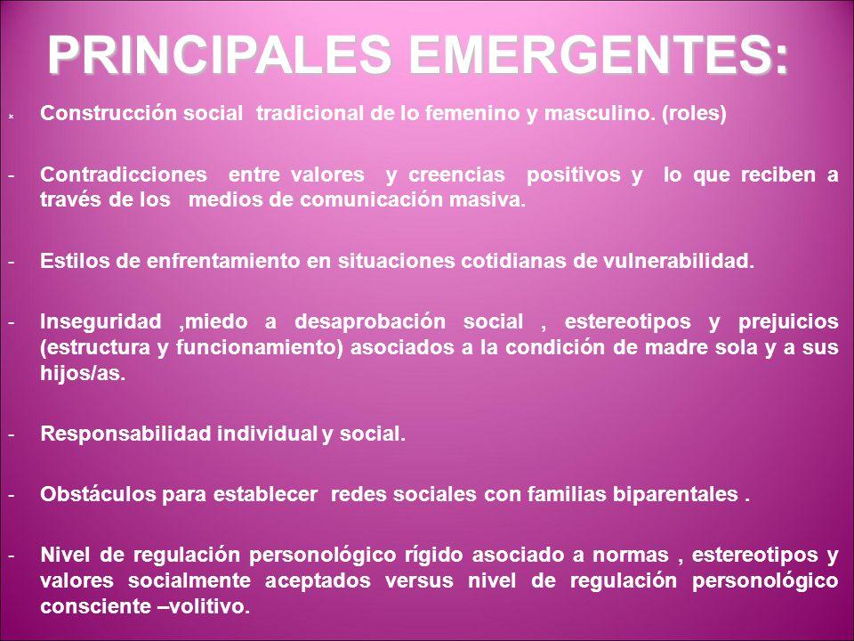 PRINCIPALES EMERGENTES: