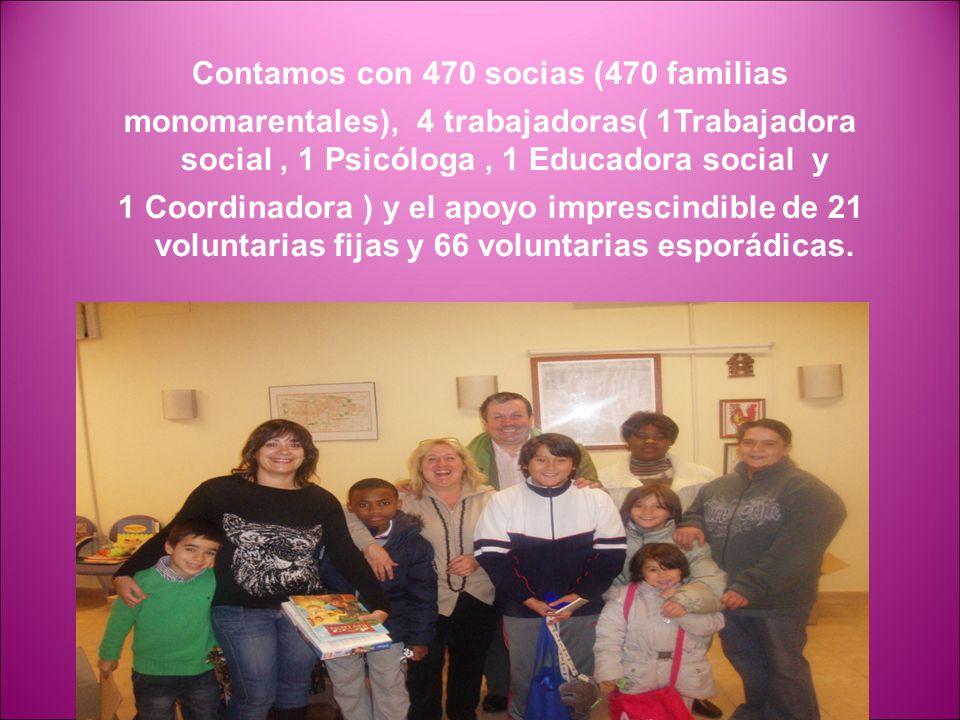 Contamos con 470 socias (470 familias