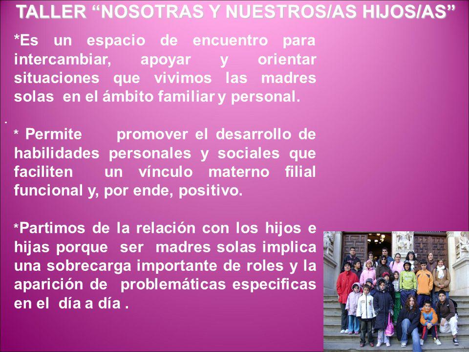 TALLER NOSOTRAS Y NUESTROS/AS HIJOS/AS