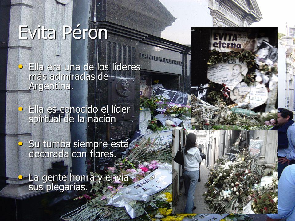 Evita Péron Ella era una de los líderes más admiradas de Argentina.