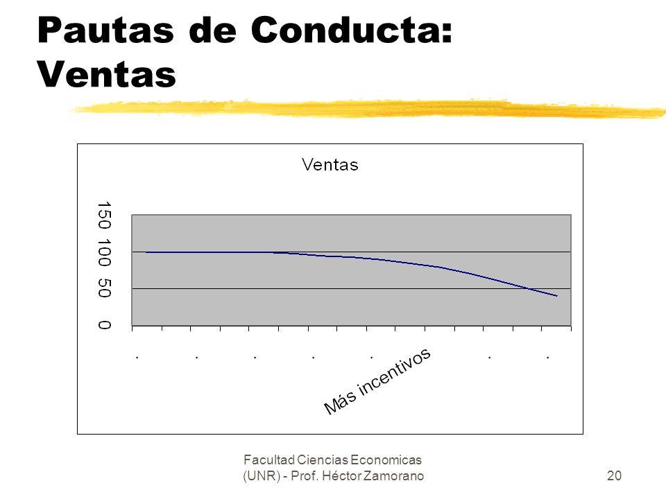 Pautas de Conducta: Ventas