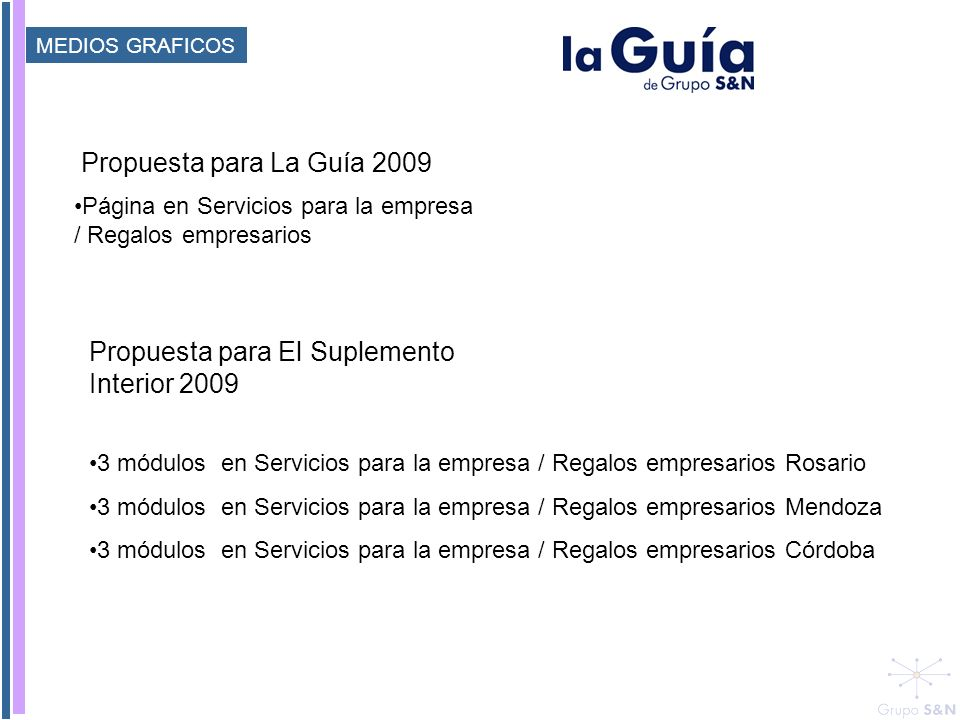 Propuesta para El Suplemento Interior 2009