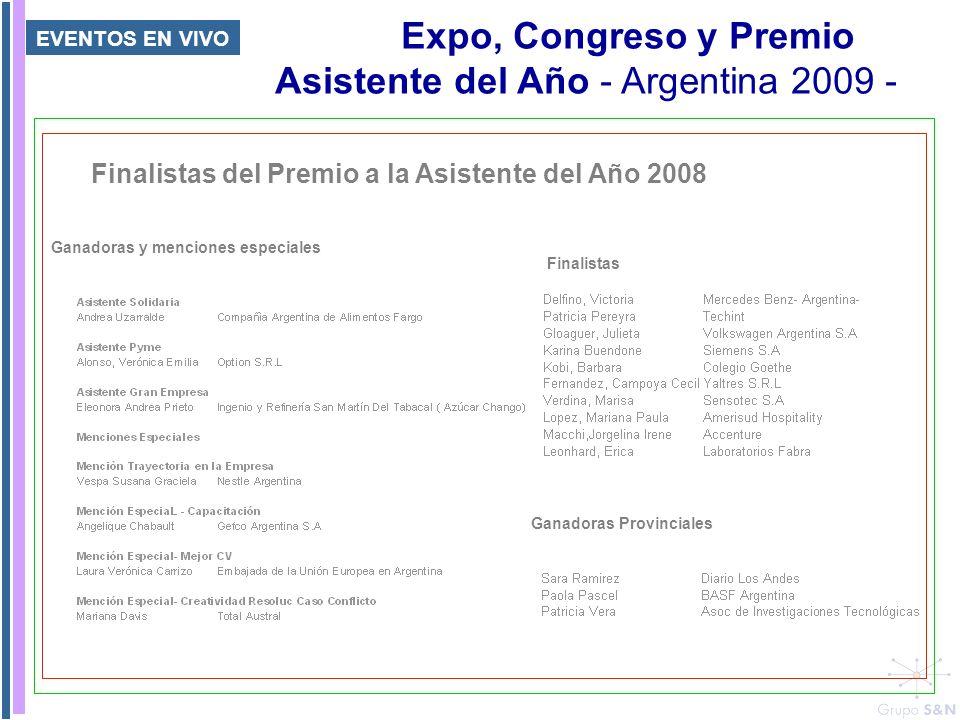 Expo, Congreso y Premio Asistente del Año - Argentina 2009 -
