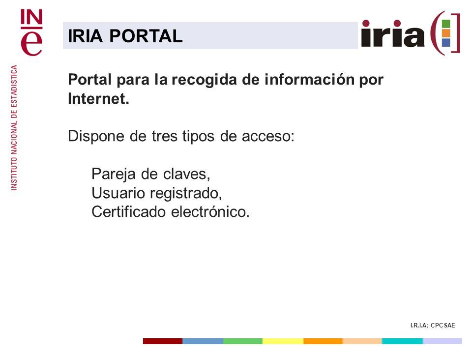 IRIA PORTAL Portal para la recogida de información por Internet.