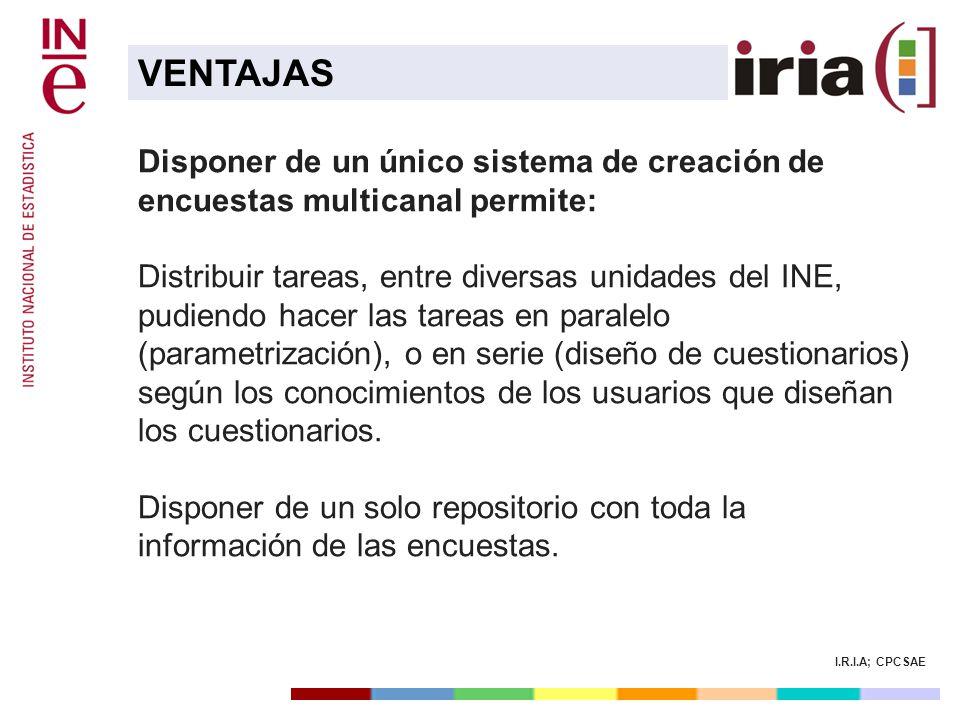 VENTAJAS Disponer de un único sistema de creación de encuestas multicanal permite:
