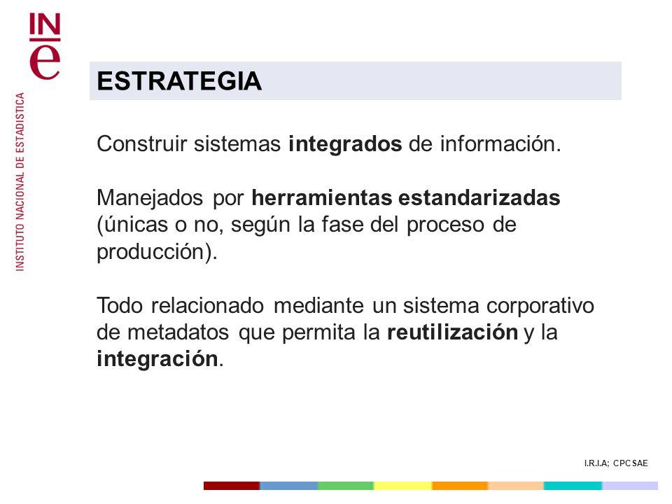 ESTRATEGIA Construir sistemas integrados de información.