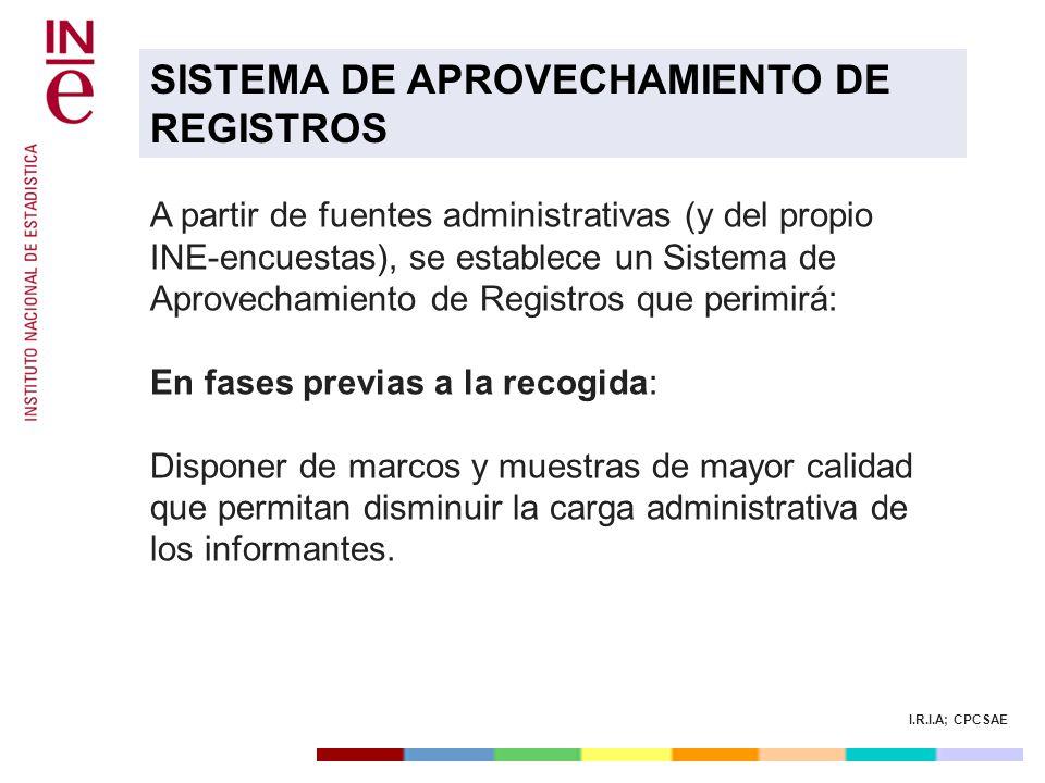 SISTEMA DE APROVECHAMIENTO DE REGISTROS