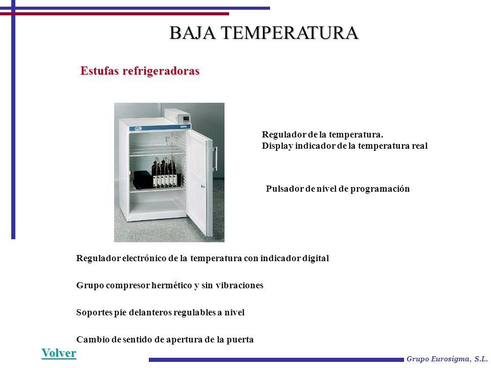 BAJA TEMPERATURA Estufas refrigeradoras Volver