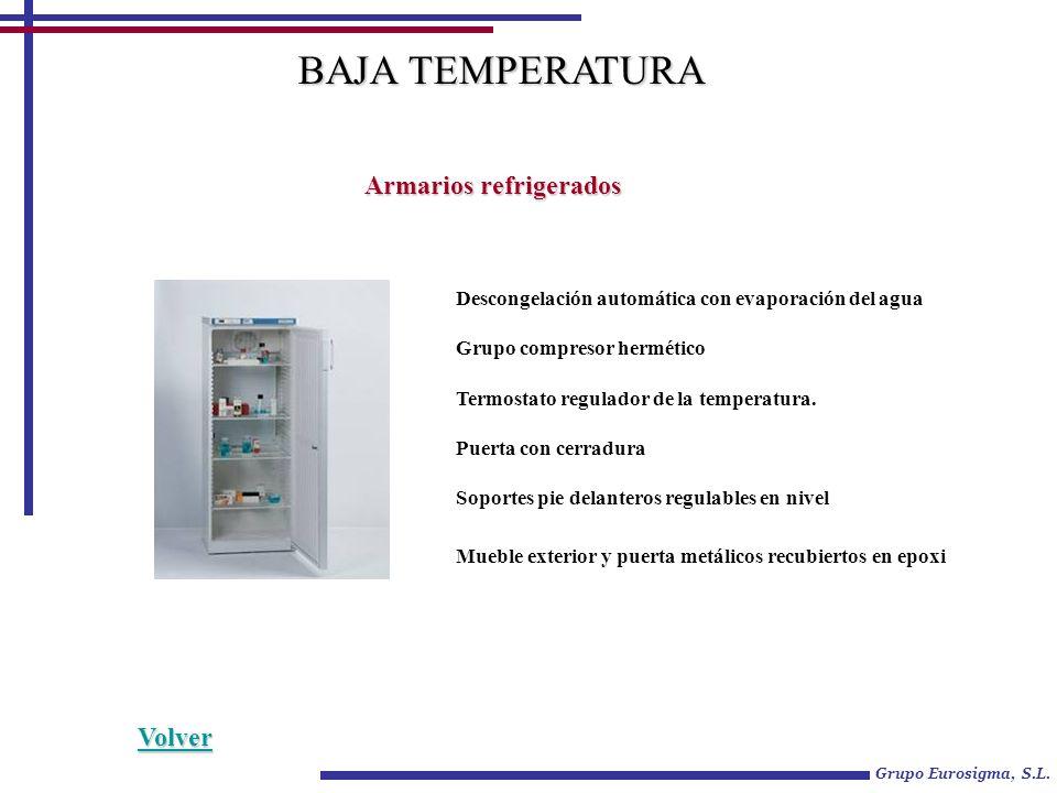 BAJA TEMPERATURA Armarios refrigerados Volver