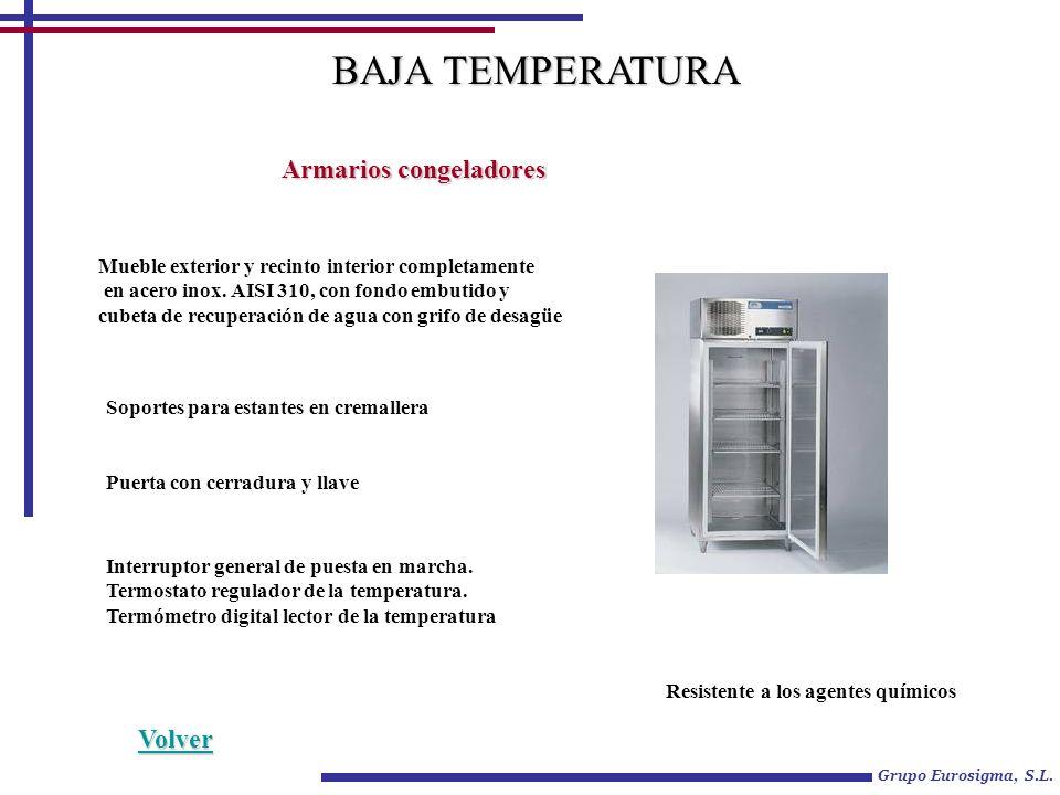 BAJA TEMPERATURA Armarios congeladores Volver