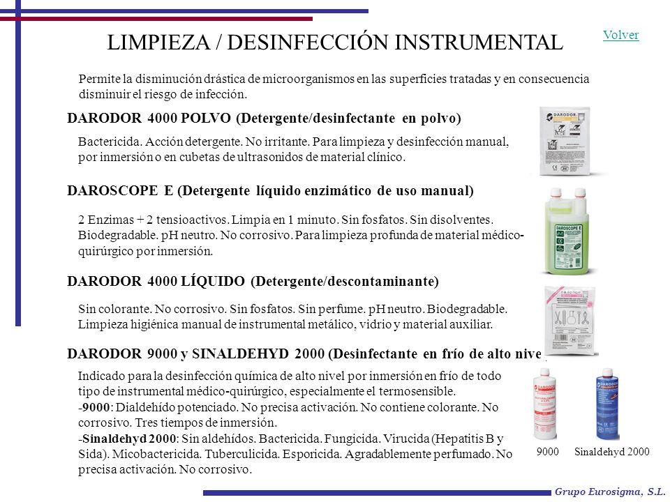 LIMPIEZA / DESINFECCIÓN INSTRUMENTAL
