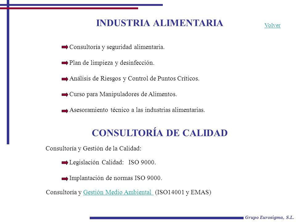 INDUSTRIA ALIMENTARIA CONSULTORÍA DE CALIDAD