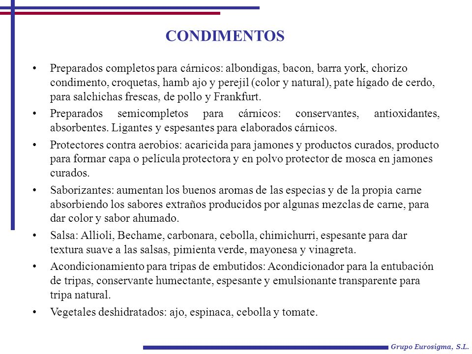 CONDIMENTOS