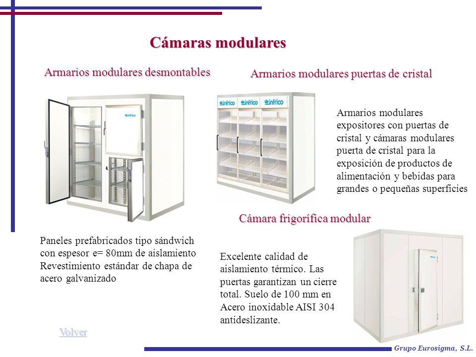 Armarios modulares puertas de cristal