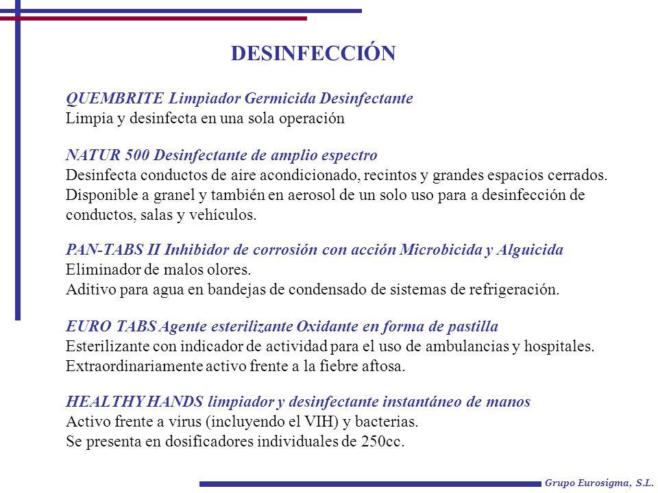 DESINFECCIÓN QUEMBRITE Limpiador Germicida Desinfectante