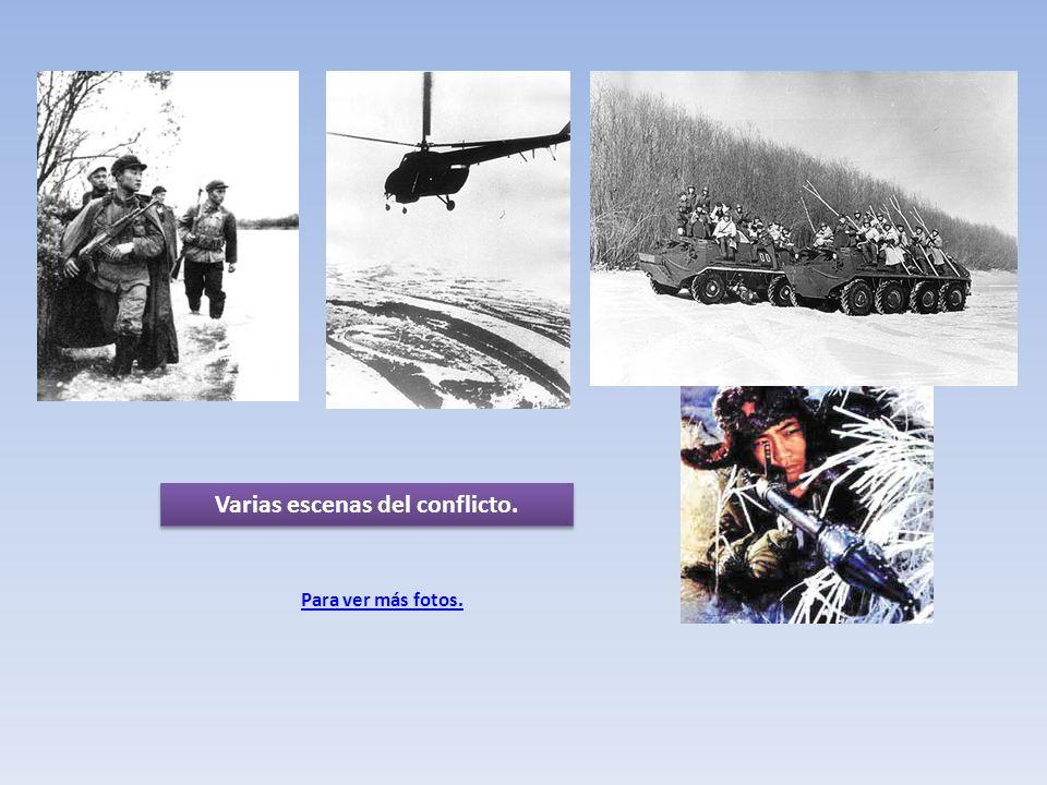 Varias escenas del conflicto.