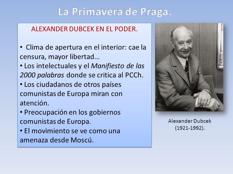 ALEXANDER DUBCEK EN EL PODER.