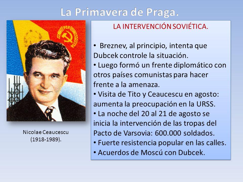 LA INTERVENCIÓN SOVIÉTICA.