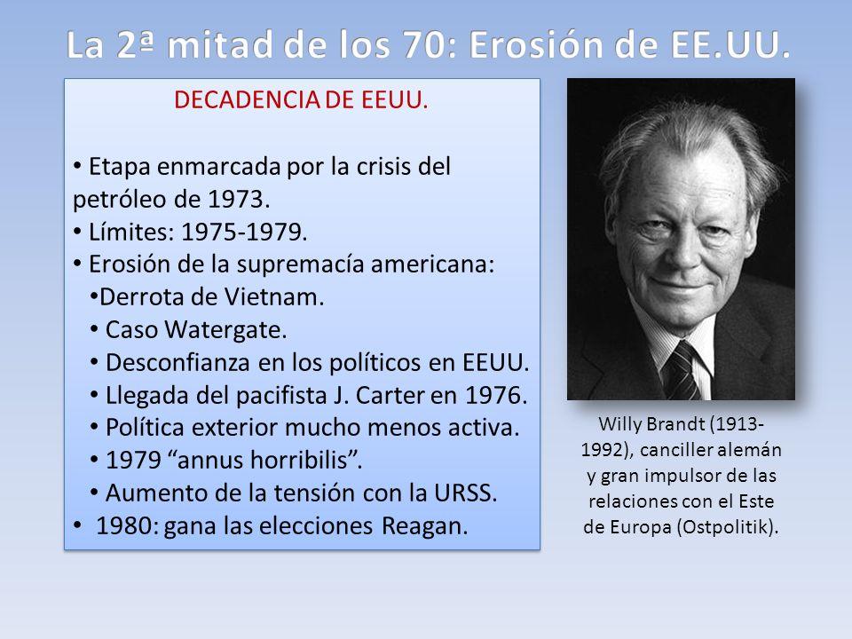 La 2ª mitad de los 70: Erosión de EE.UU.