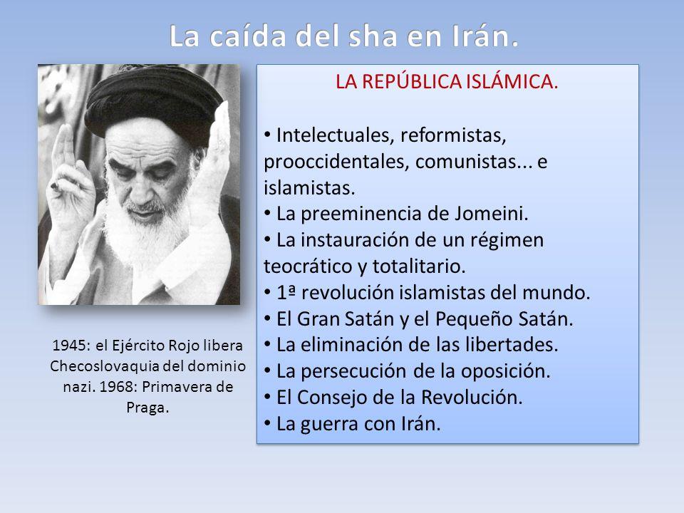 La caída del sha en Irán. LA REPÚBLICA ISLÁMICA.