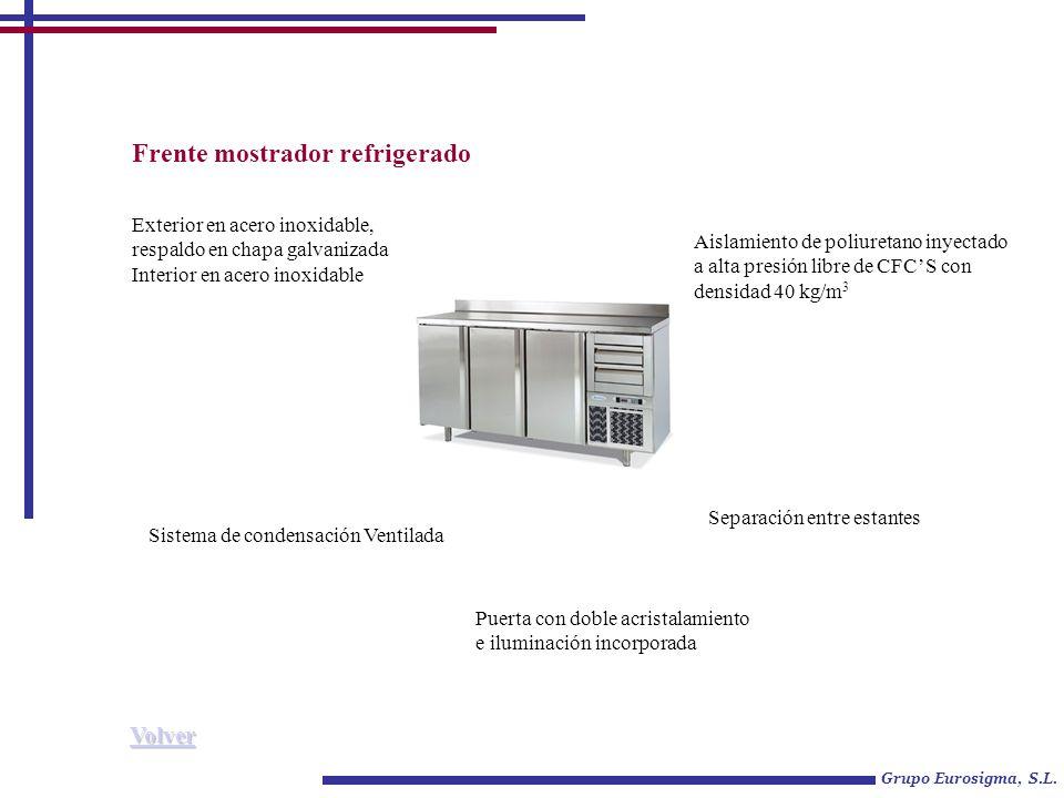 Frente mostrador refrigerado