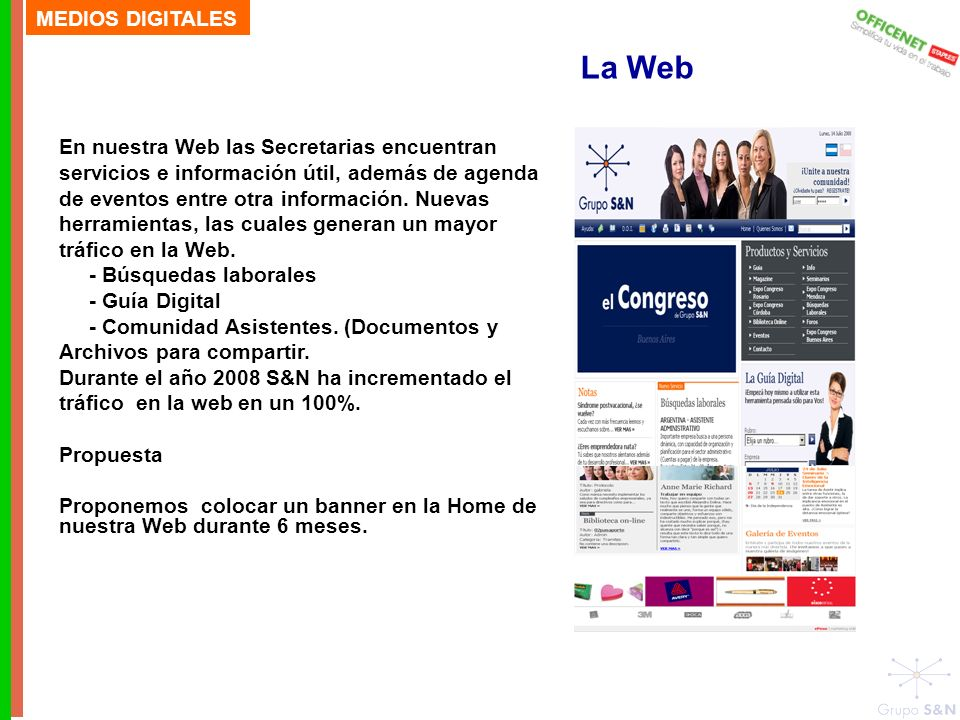 La Web MEDIOS DIGITALES