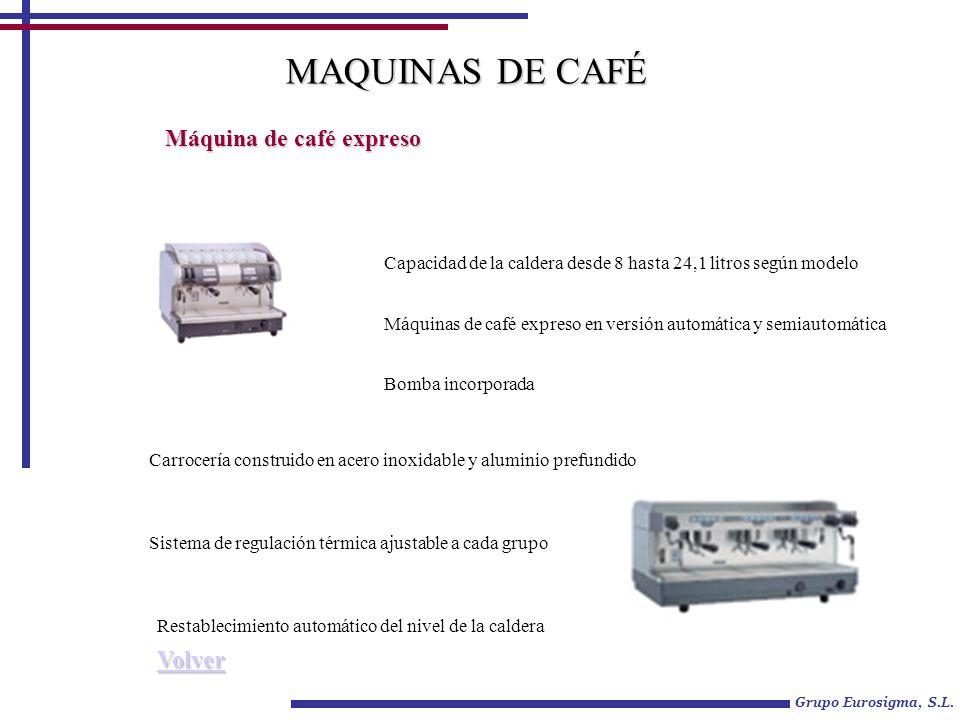 MAQUINAS DE CAFÉ Máquina de café expreso Volver