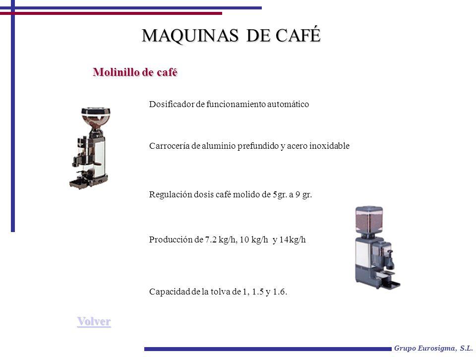 MAQUINAS DE CAFÉ Molinillo de café Volver