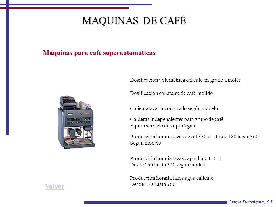 MAQUINAS DE CAFÉ Máquinas para café superautomáticas Volver