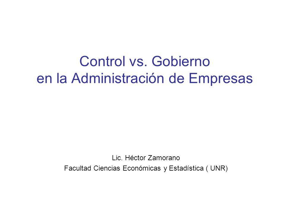 Control vs. Gobierno en la Administración de Empresas
