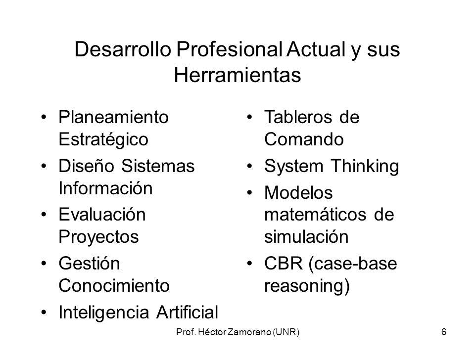 Desarrollo Profesional Actual y sus Herramientas