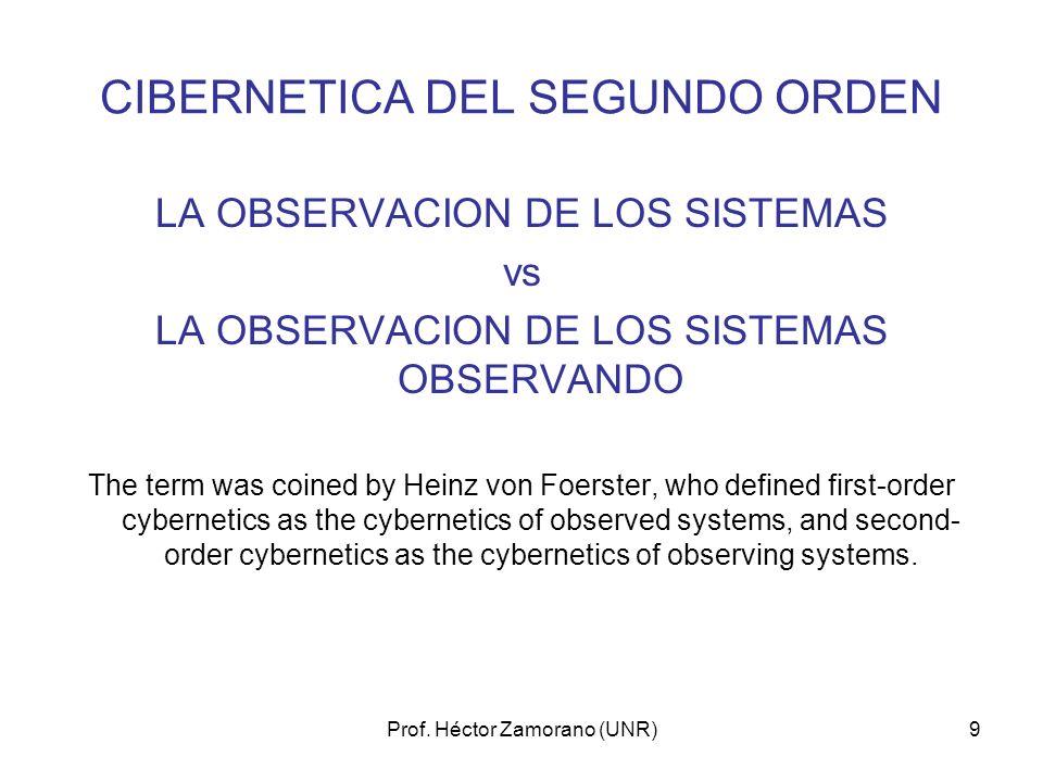 CIBERNETICA DEL SEGUNDO ORDEN
