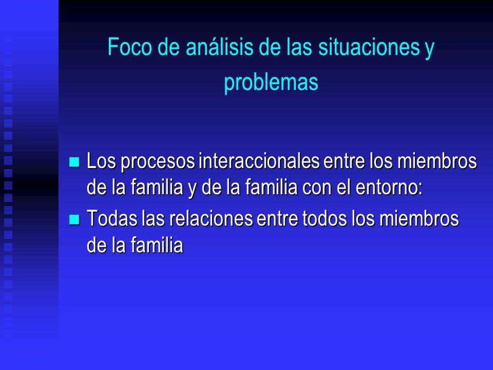 Foco de análisis de las situaciones y problemas